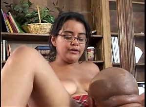Nerdy Latin Teen Can't Handle BBC